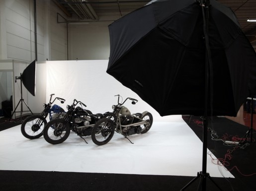 Photoshooting für das Custombike Magazin.