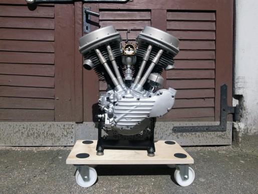 Panhead Motor von 1951.