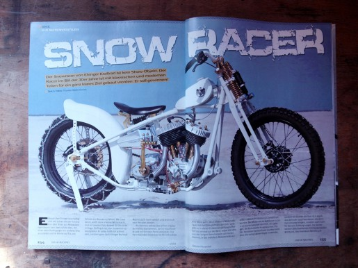 Der Snowracer im Dream Machines Magazin.